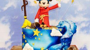 Gâteau en pâte à sucre mickey magicien Fantasia