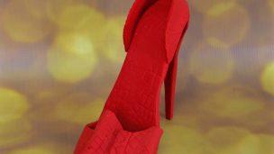 Chaussure, escarpin à talon en pâte à sucre