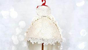 luxury cake ou gâteau en robe suspendu en pâte à sucre